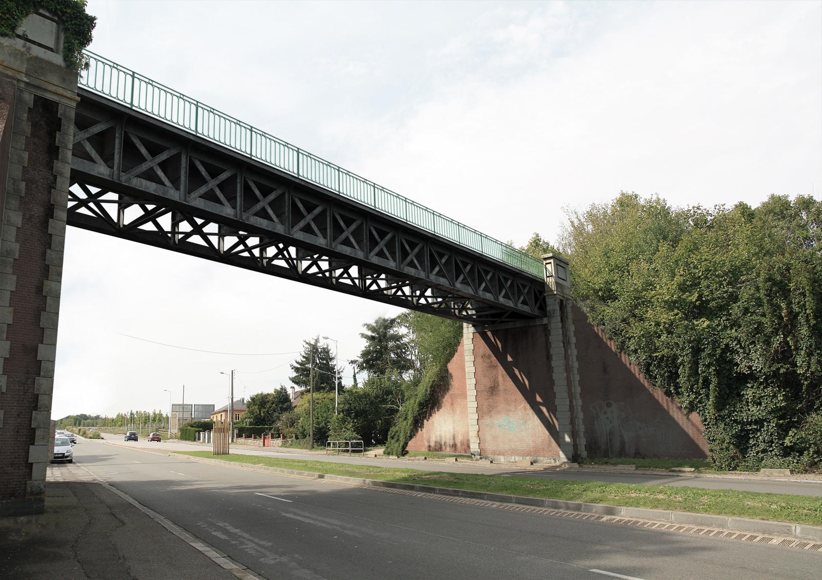 Projet de mise en lumières de ponts à Evreux.