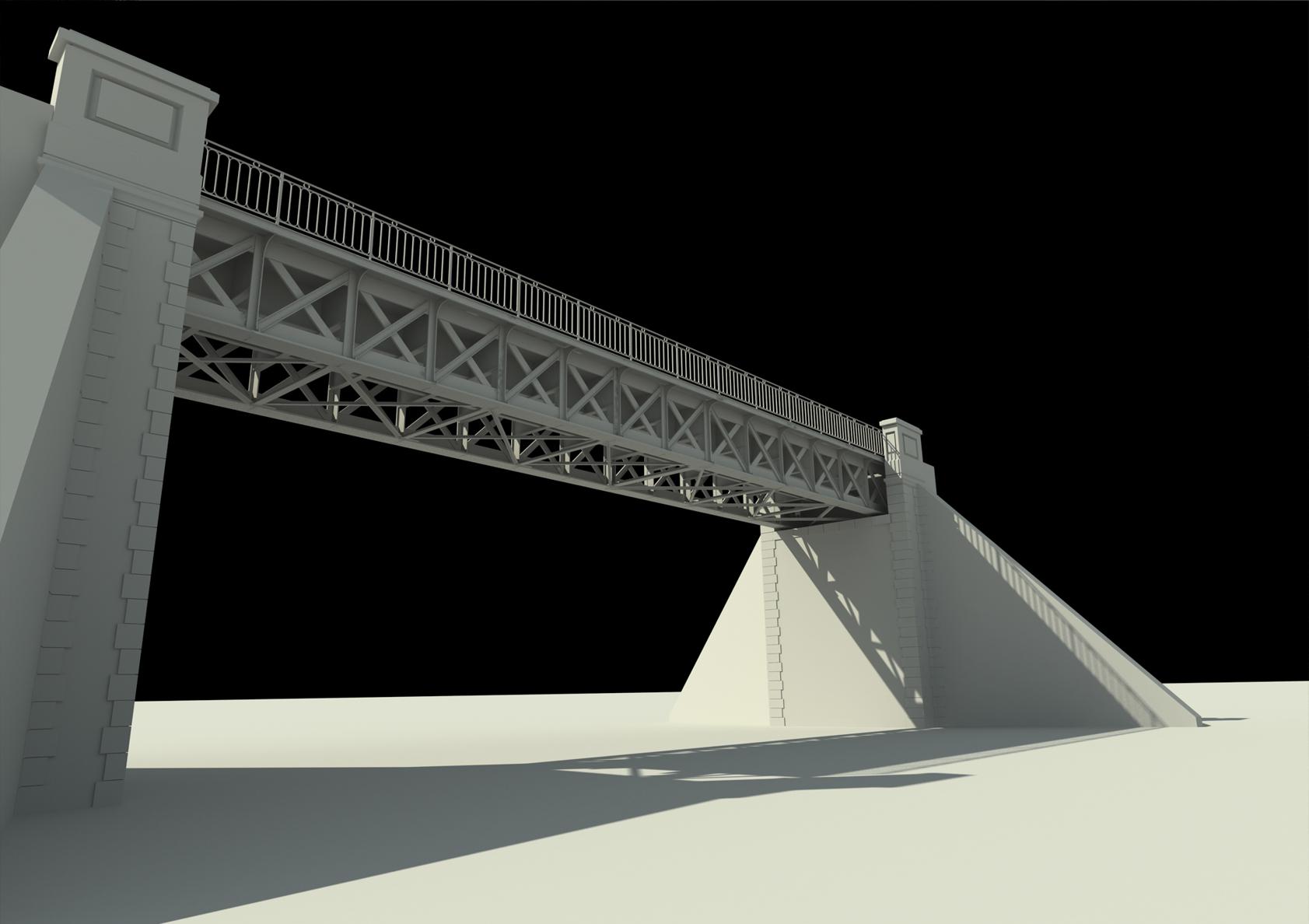 Modélisation 3D ponts - Projet de mise en Lumière à Evreux