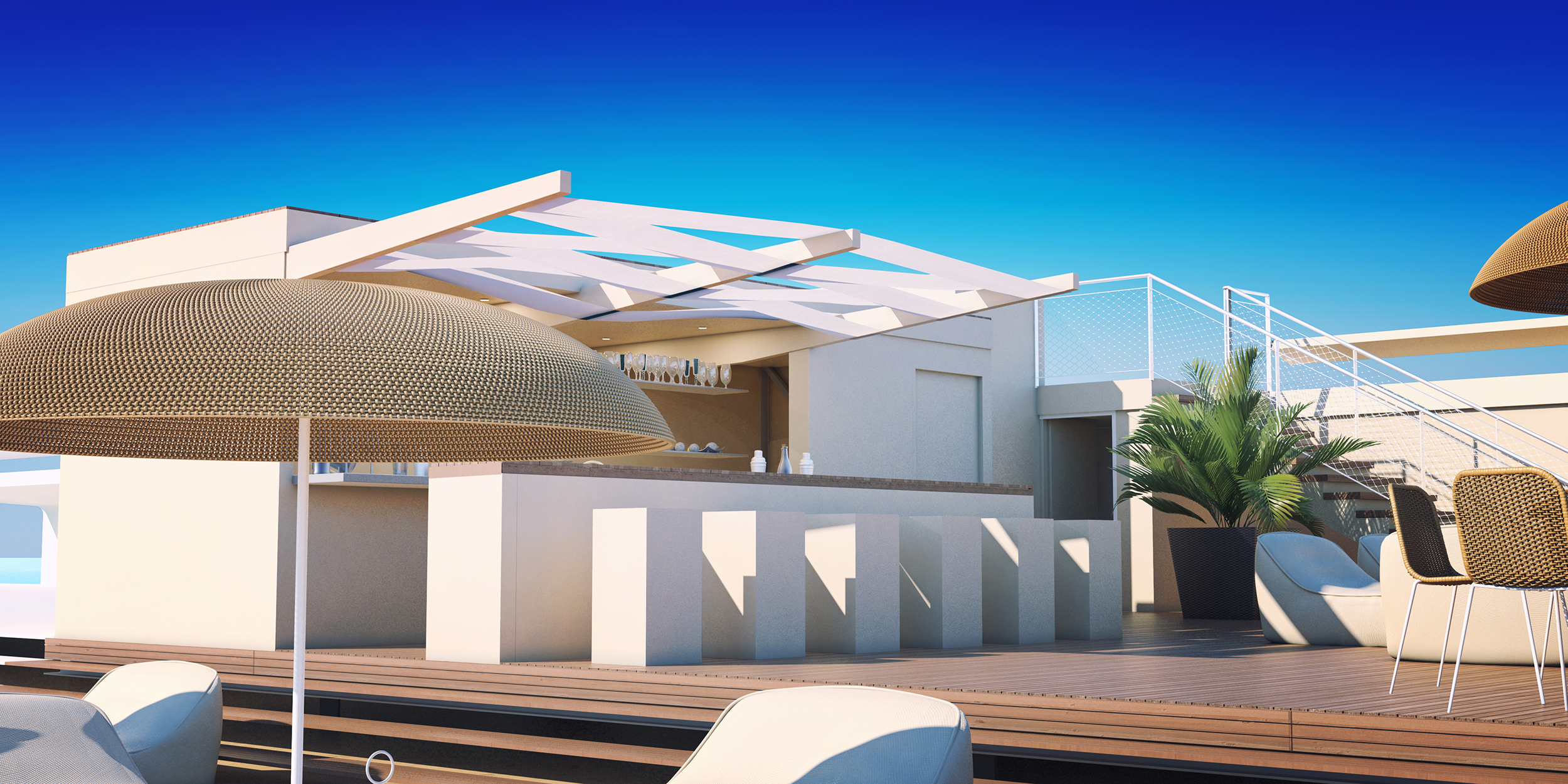 Production de perspectives 3D pour la présentation du projet d'aménagement du casino de Cannes