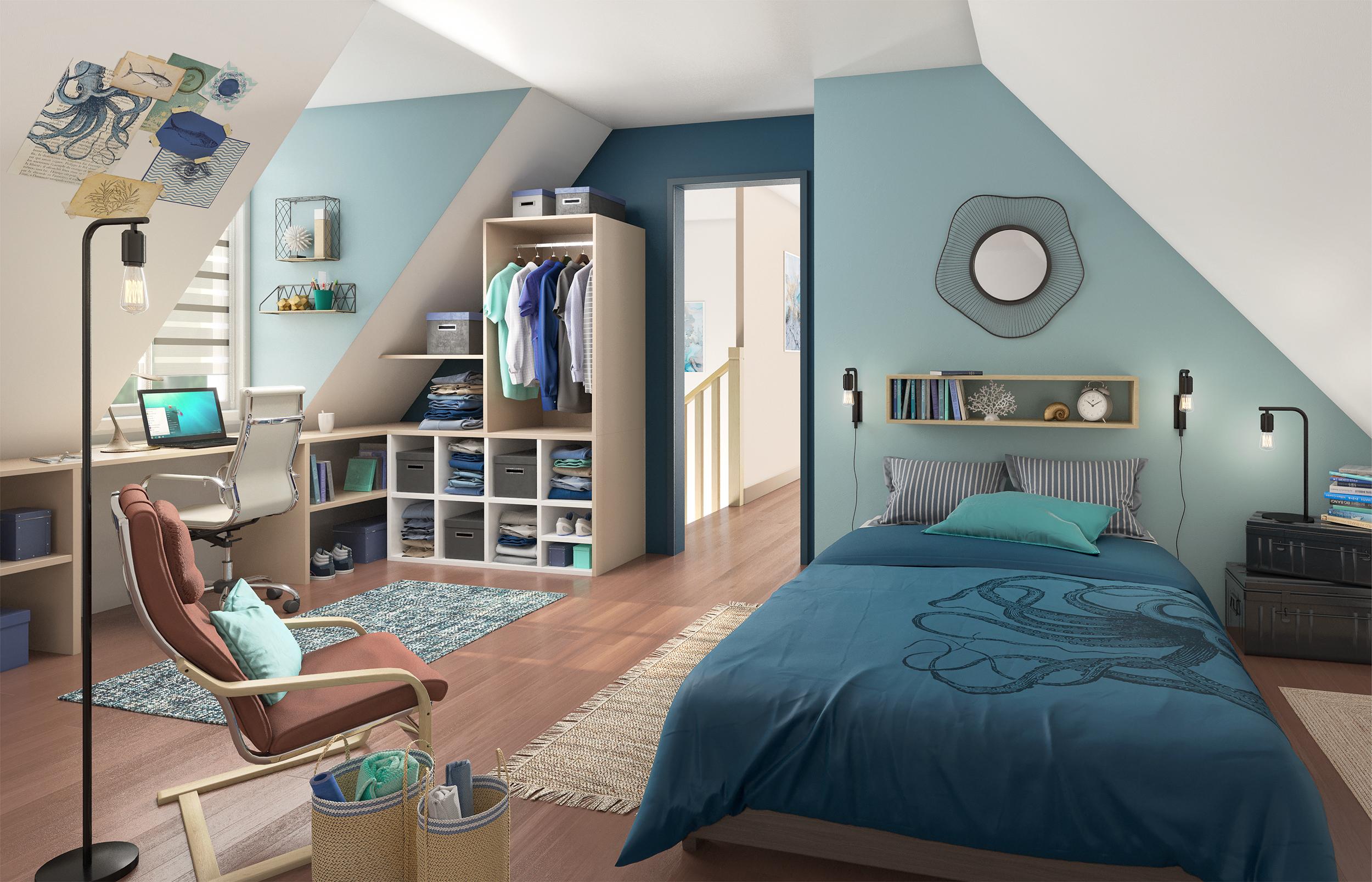 Production d'images 3D pour l'aménagement d'une chambre d'enfant