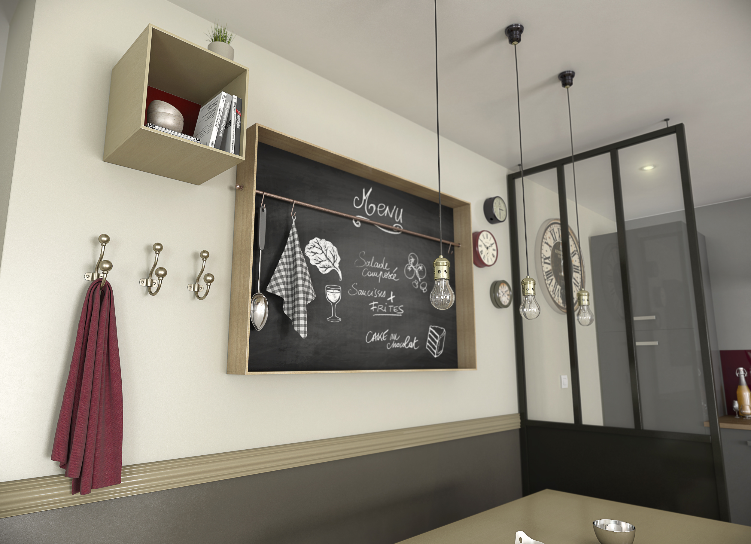 Illustrations 3D aménagement cuisine - Agence Dripmoon