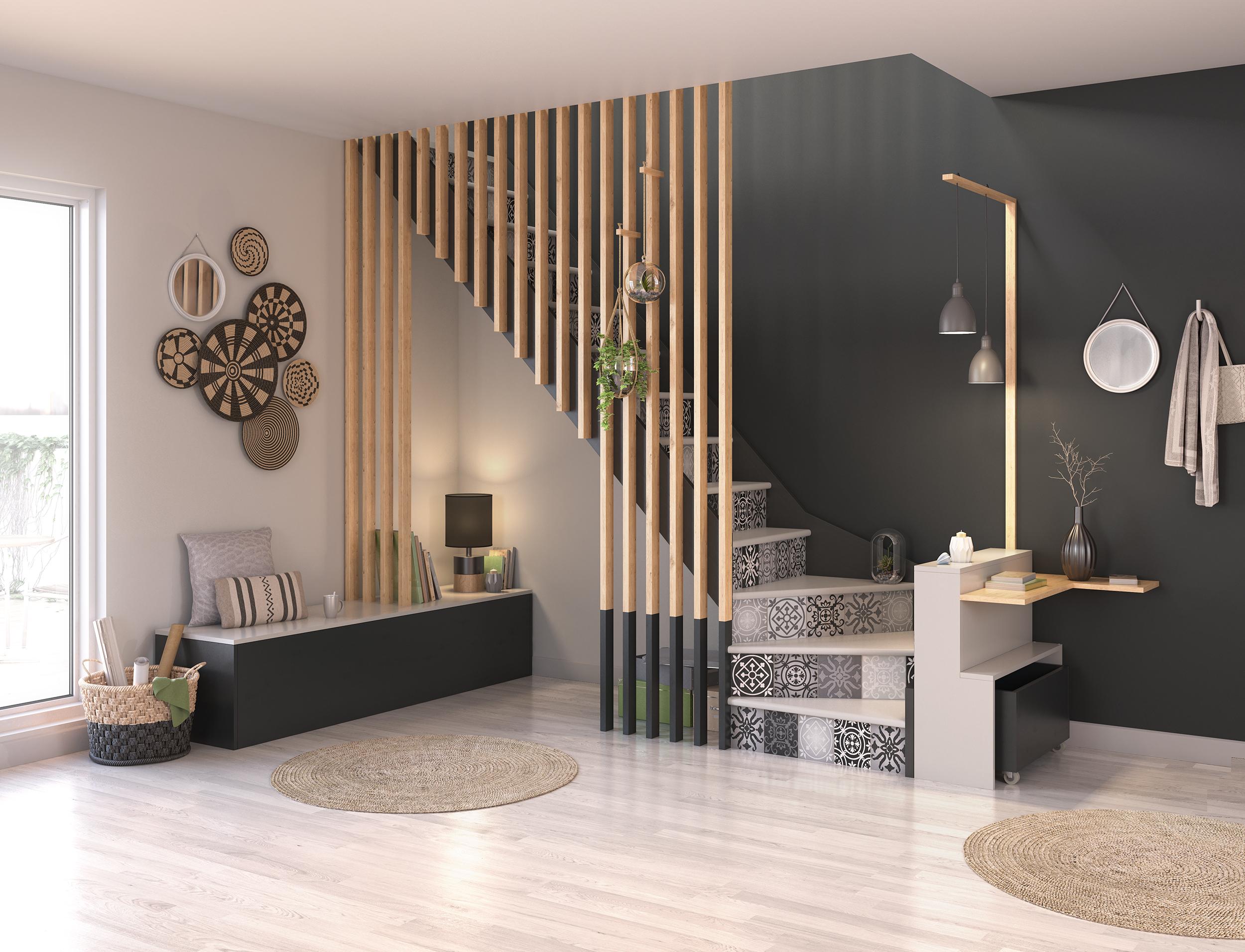 Images 3D - aménagement et la décoration d'un salon par Dripmoon