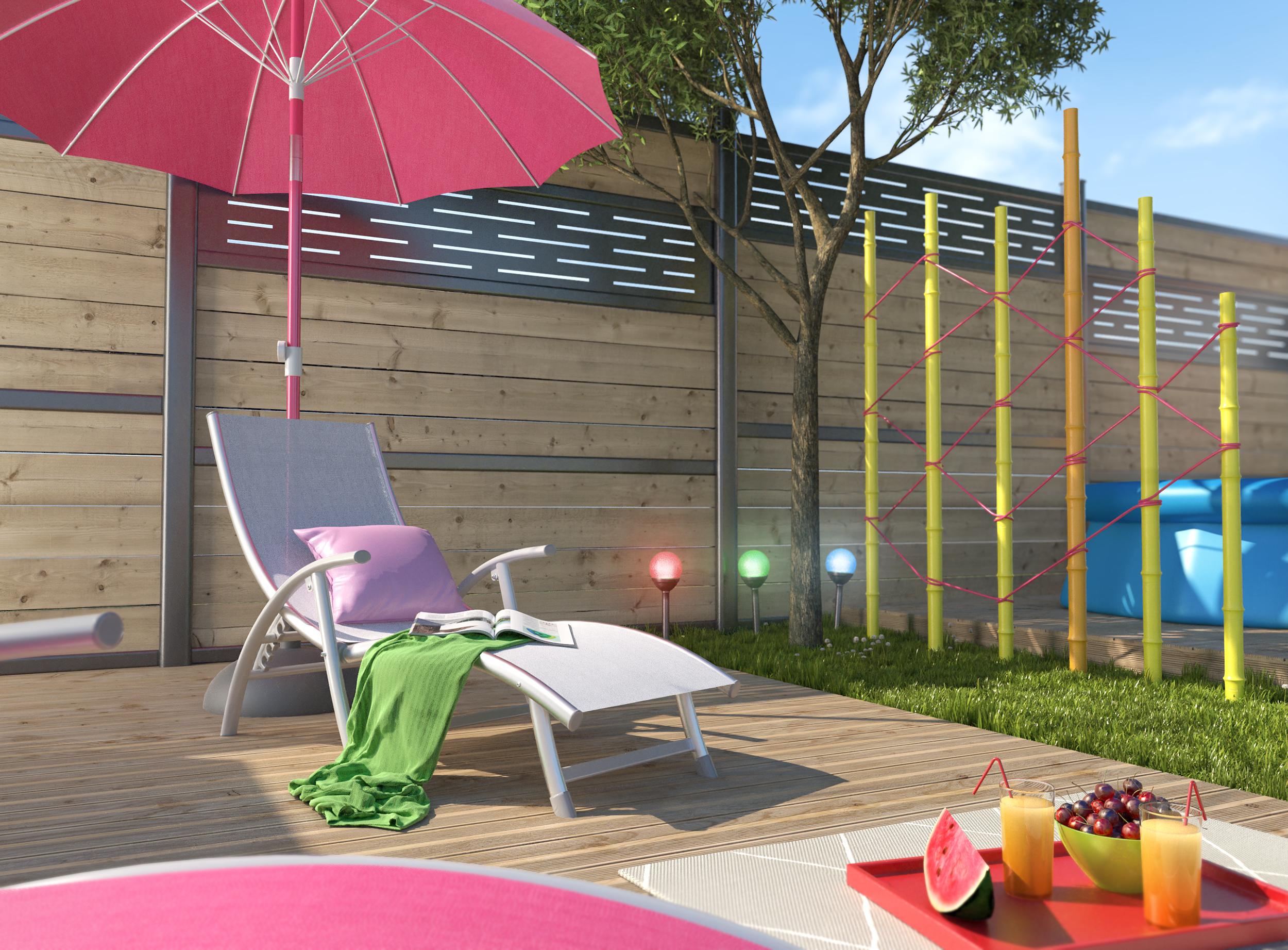 Images 3D - aménagement et la décoration d'un Jardin par Dripmoon