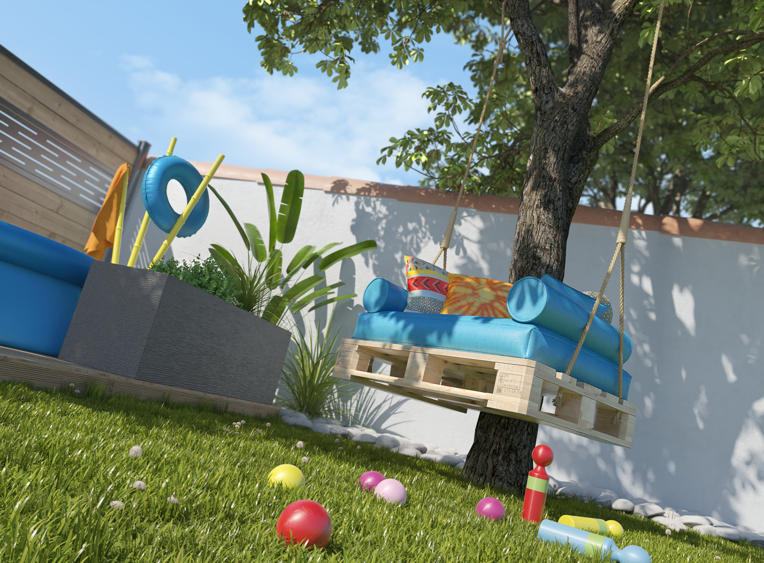 Images 3D destinées à un web-média de décoration et bricolage.