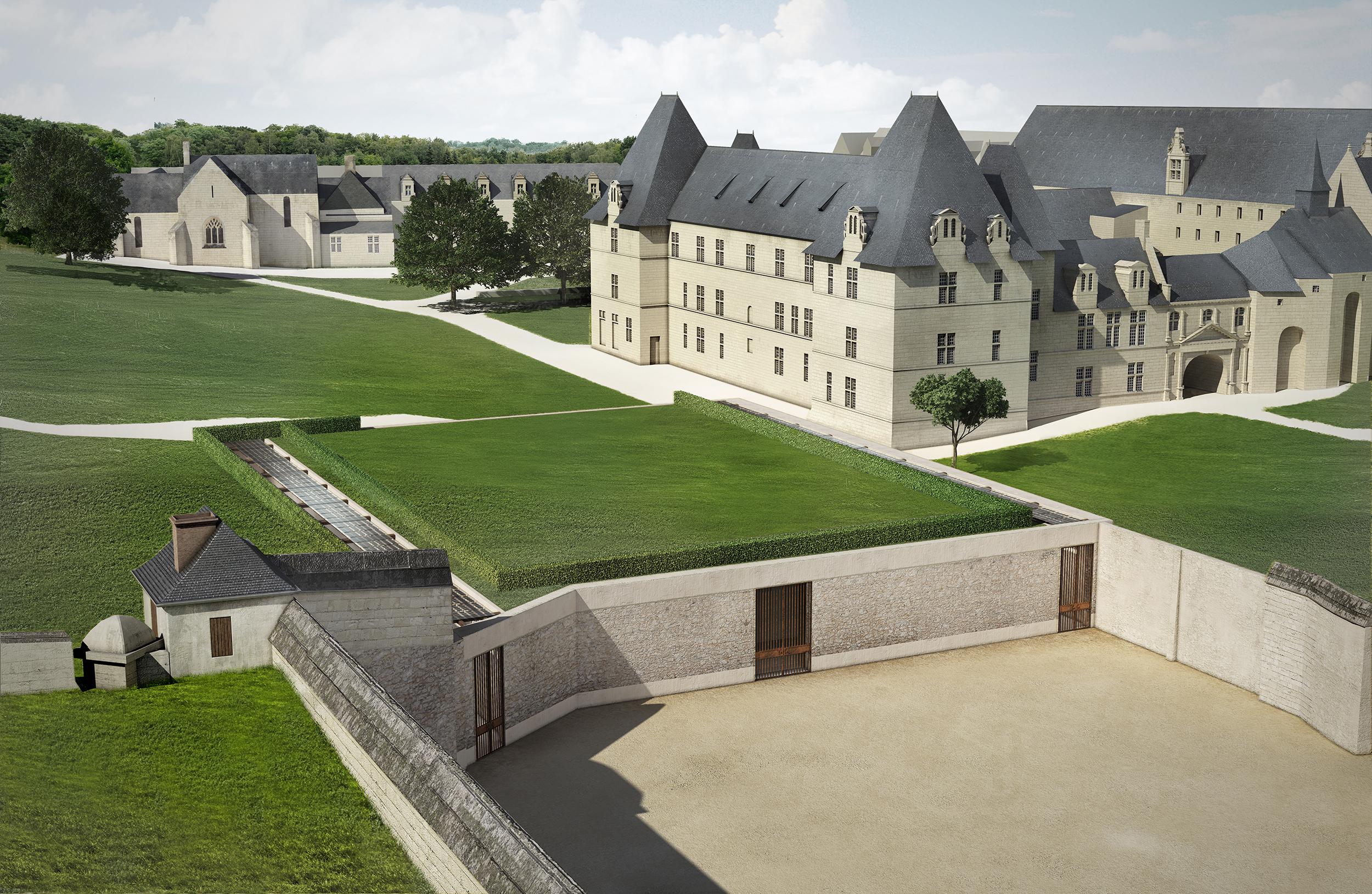 Illustration 3D Abbaye de Fontevraud par Dripmoon