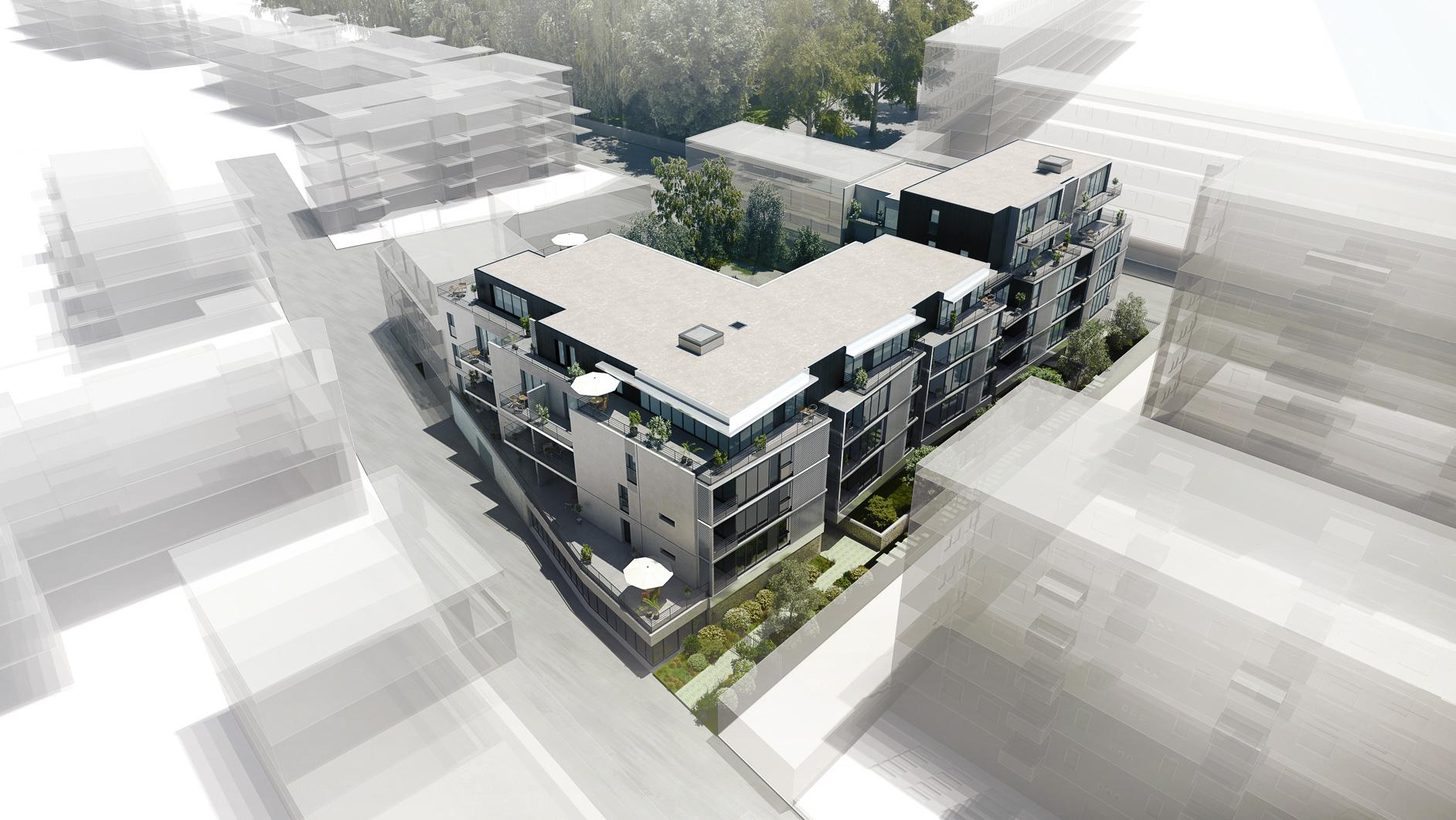 Dripmoon Perspectives 3D Concours architecture aménagement Logements la Riche