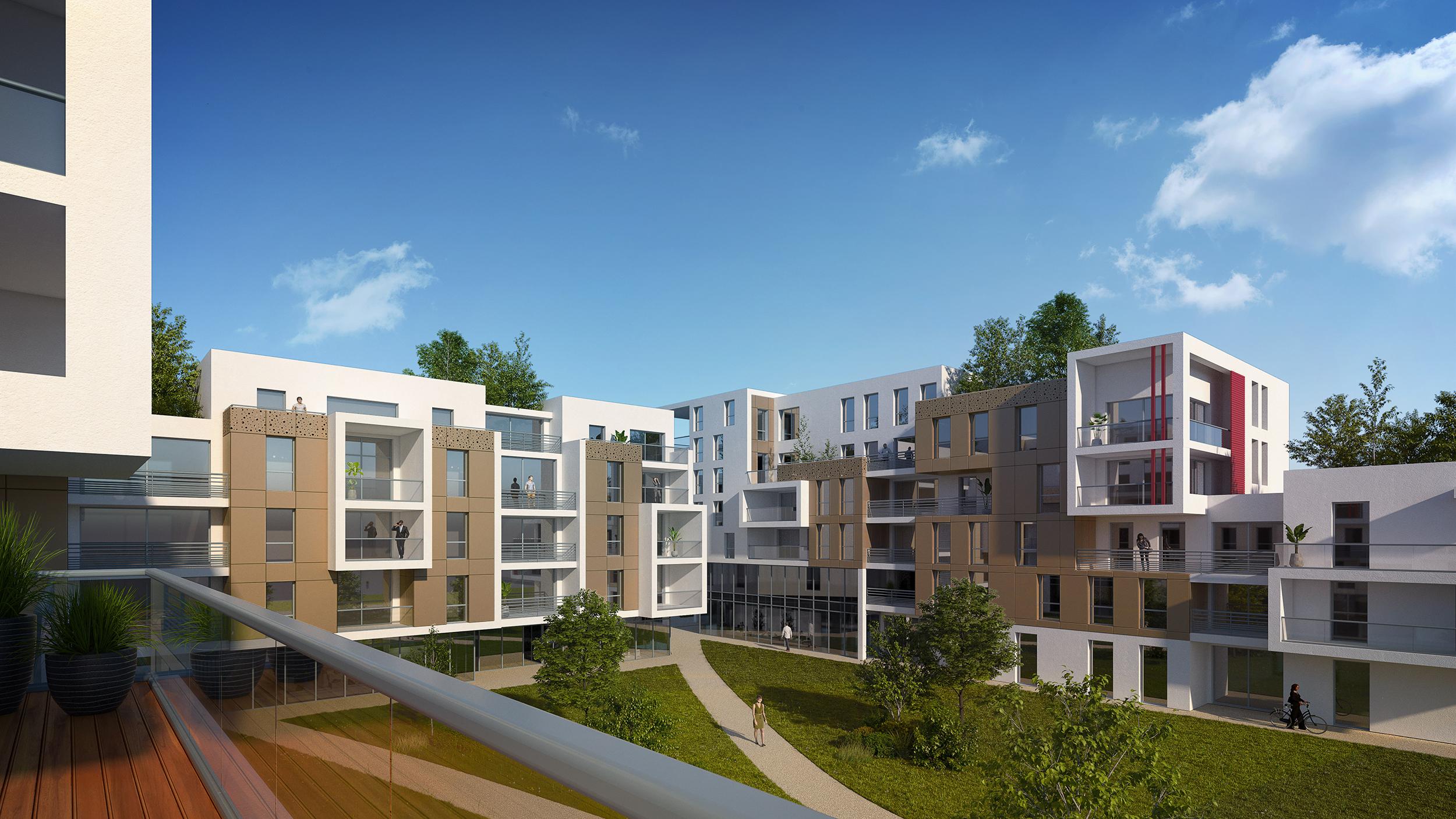 Dripmoon Perspectives 3D Concours architecture aménagement Îlot Gustave Eiffel Tours Nord