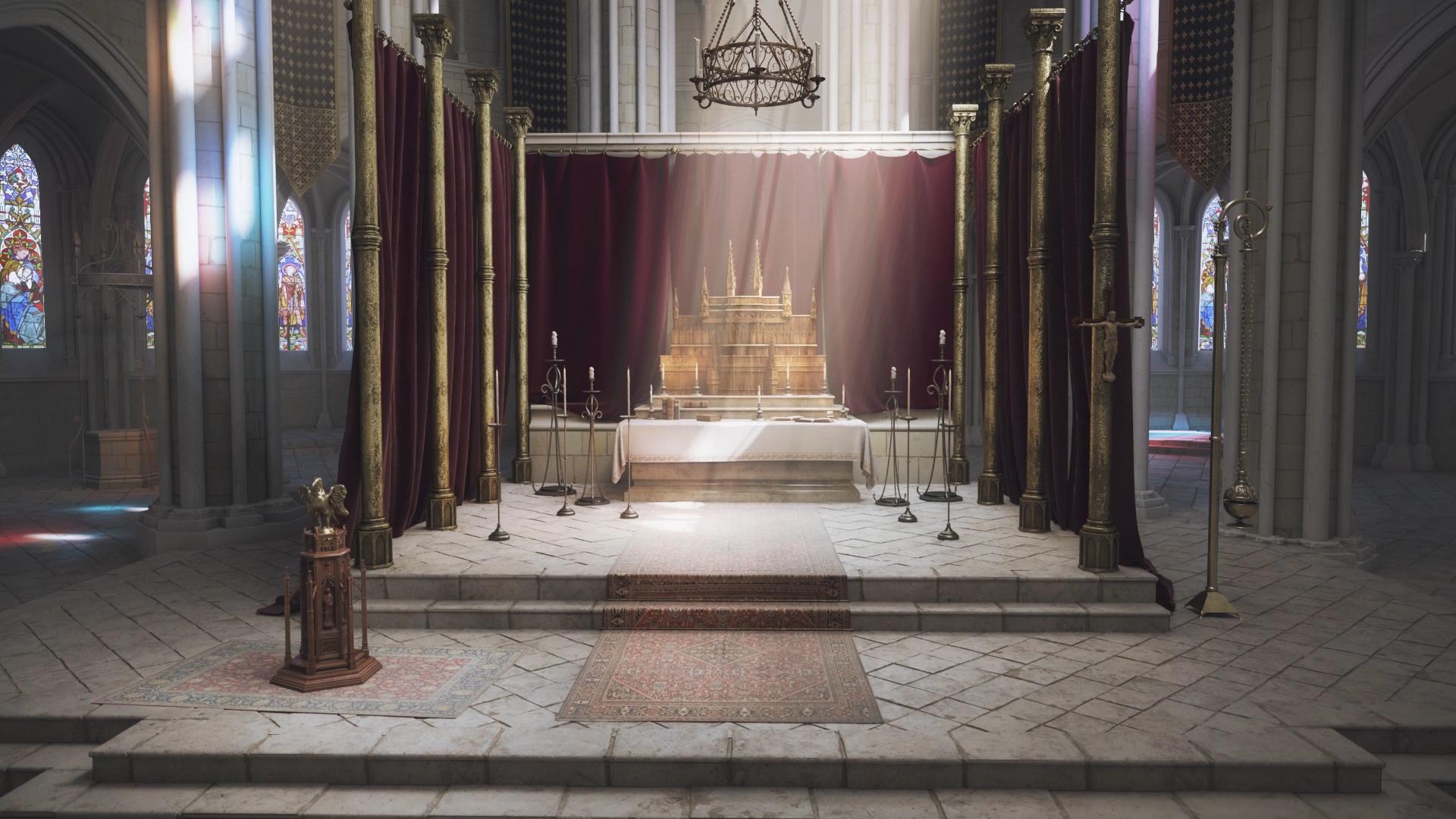 Modélisation et films d'animation 3D cathédrale - Agence Dripmoon