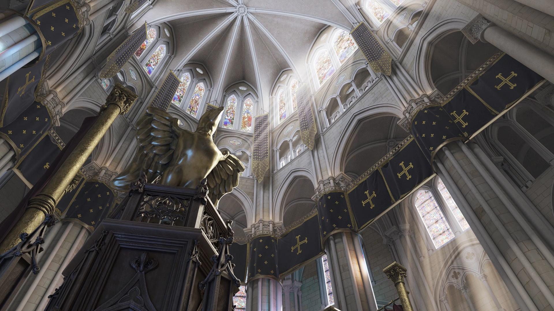 Modélisation cathédrale en 3D - Agence patrimoine numérique à Tours