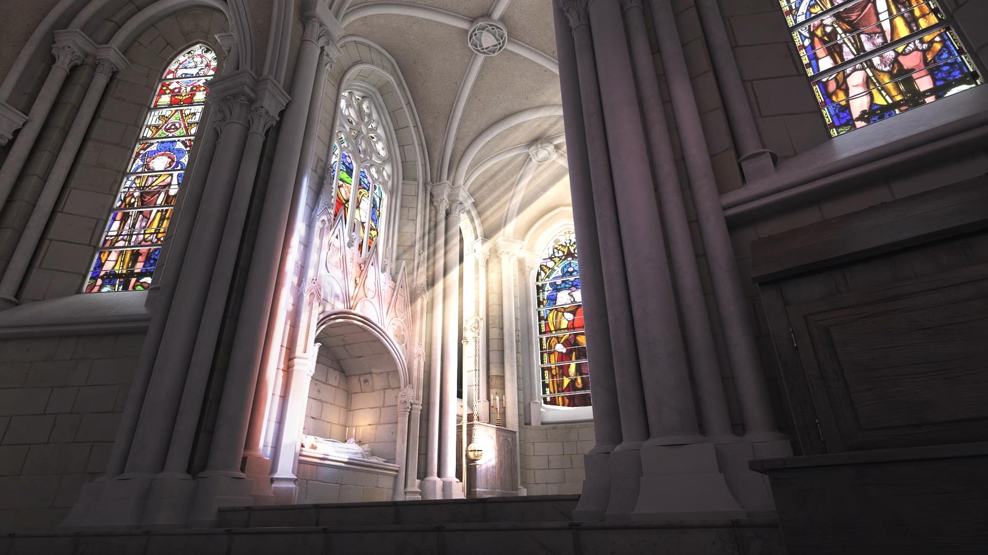 Modélisation 3D et photogrammétrie pour la Restitution 3D du Chœur de la collégiale Saint Martin au XVème siècle - Dripmoon