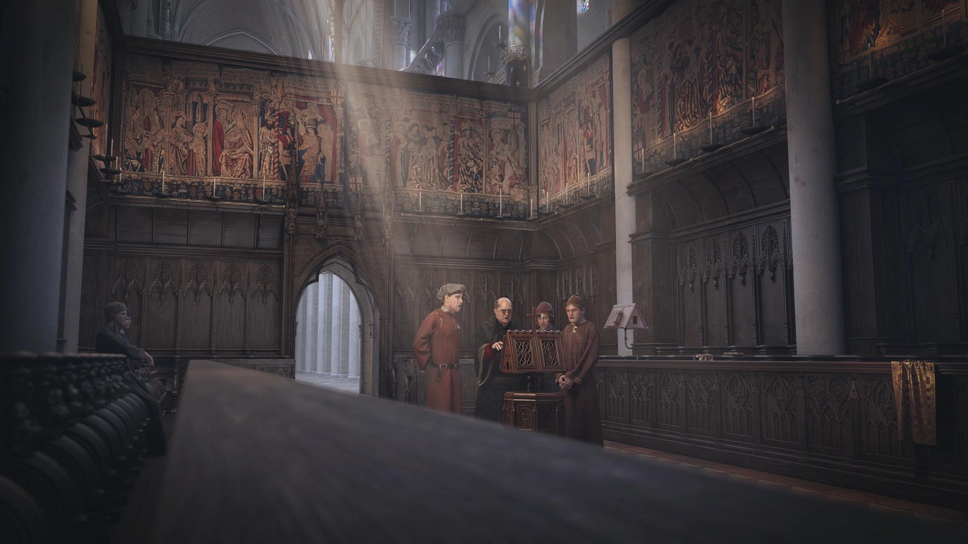 Film animation 3D - Modélisation Jean Ockeghem dans le Chœur de la collégiale Saint Martin