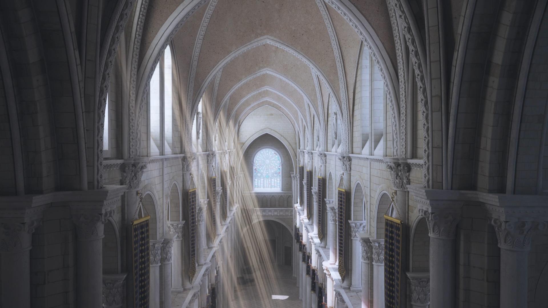 Restitution 3D Chœur de la collégiale Saint Martin au XVème siècle - Agence Dripmoon