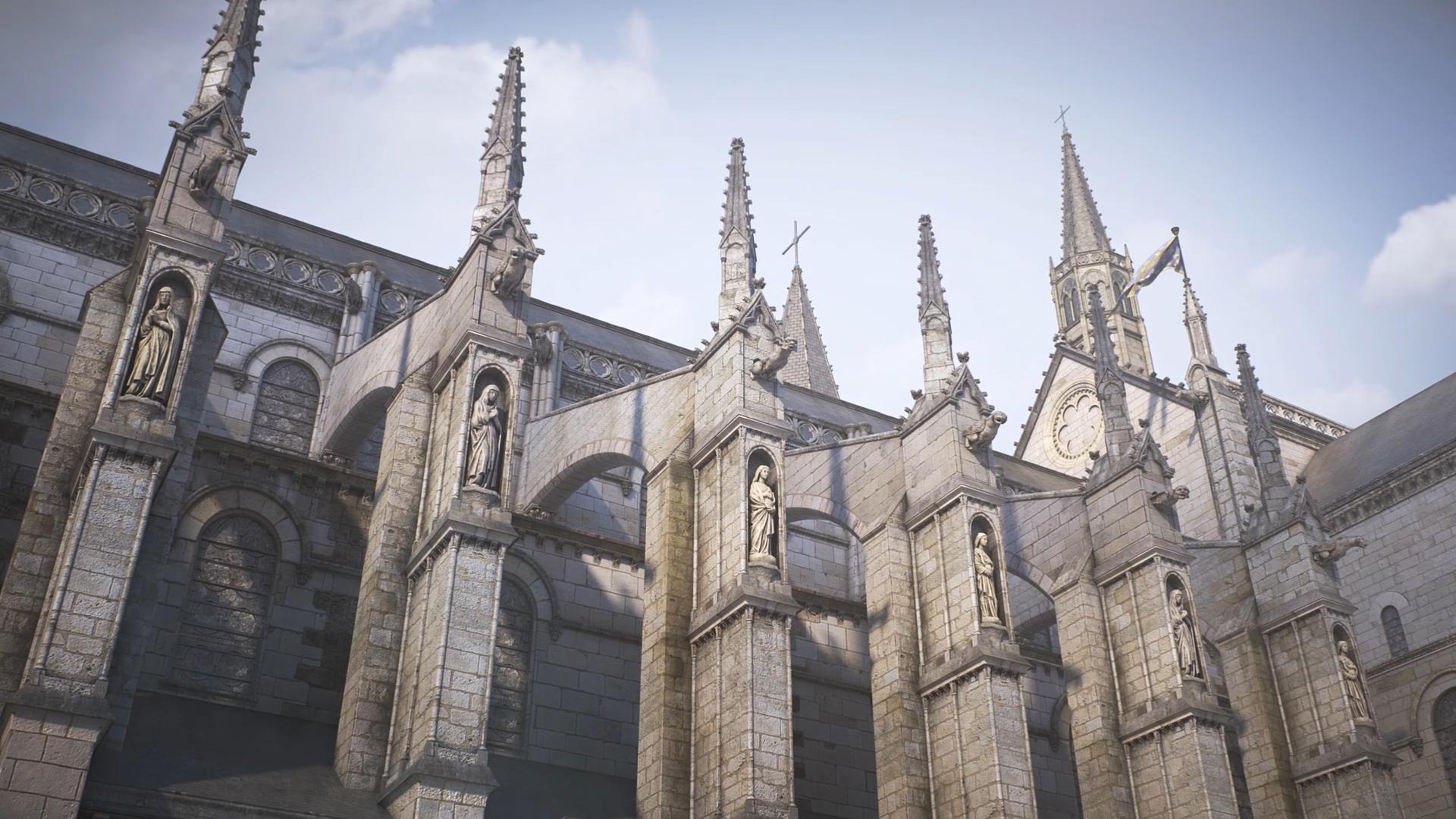 Modélisation pour restitution 3D du Cloître de la collégiale Saint Martin