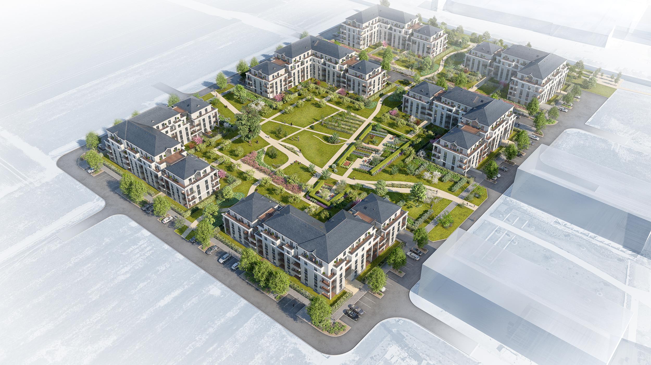 animation pour la présentation d'un programme d'aménagement de collectifs de logements à Saint Cyr sur Loire