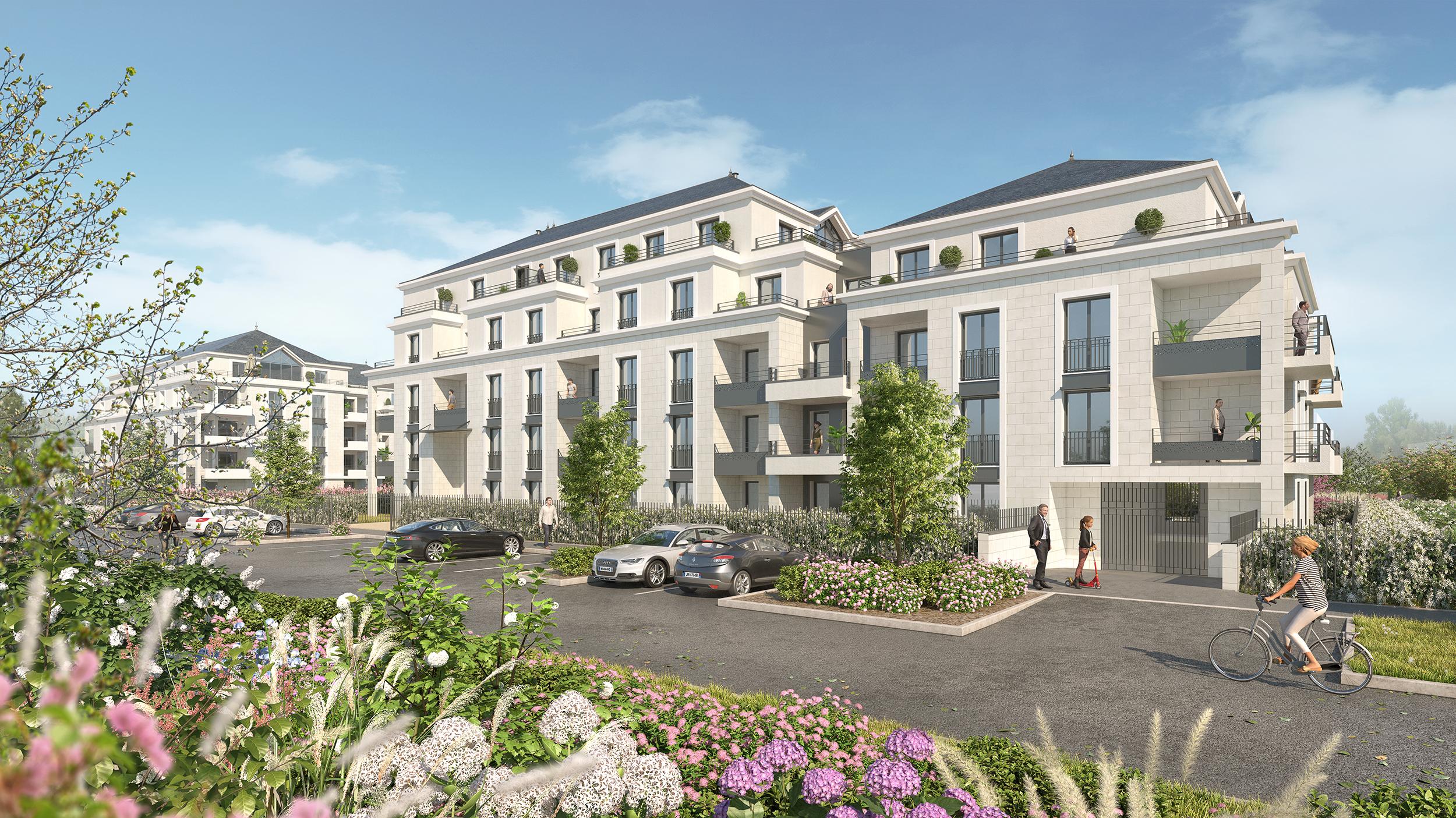 Illustration 3D Programme de construction de logements à Saint Cyr sur Loire