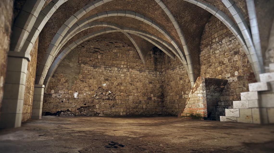 Vidéo 3D pour visite virtuelle anciennes caves à Bourges et Orléans