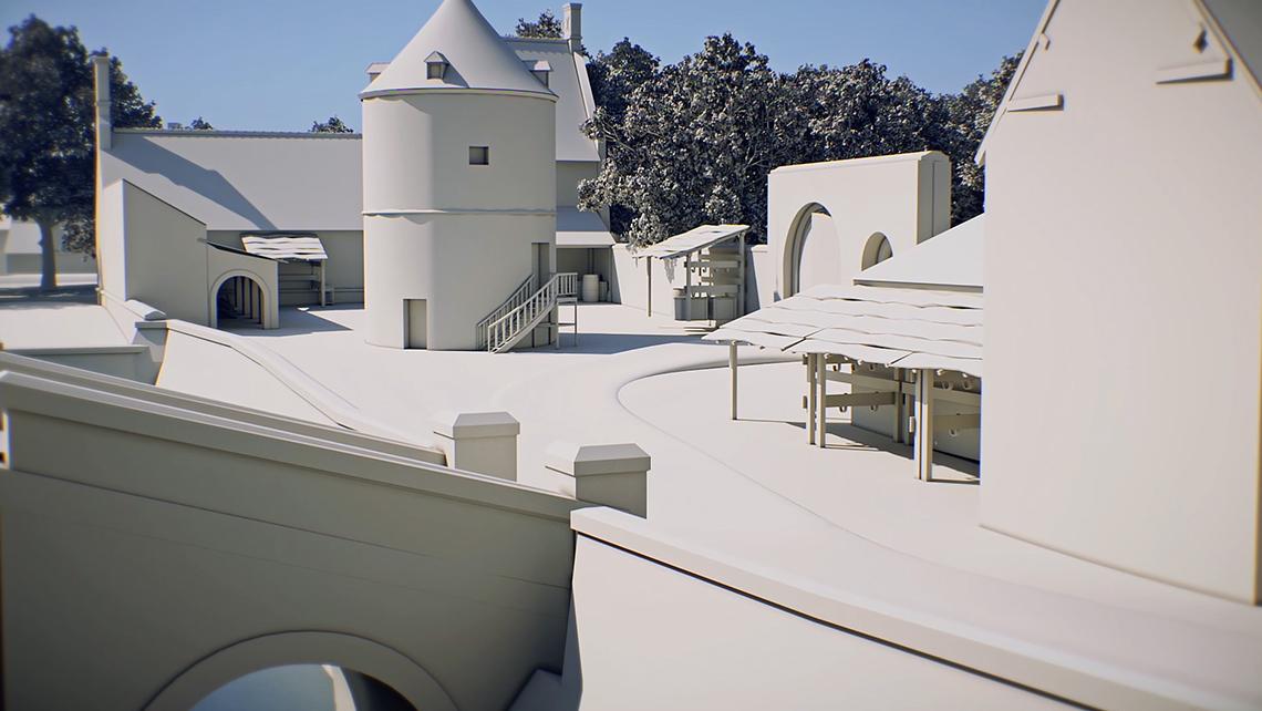Modélisation et animation 3D des transformations architecturales du château à la Renaissance
