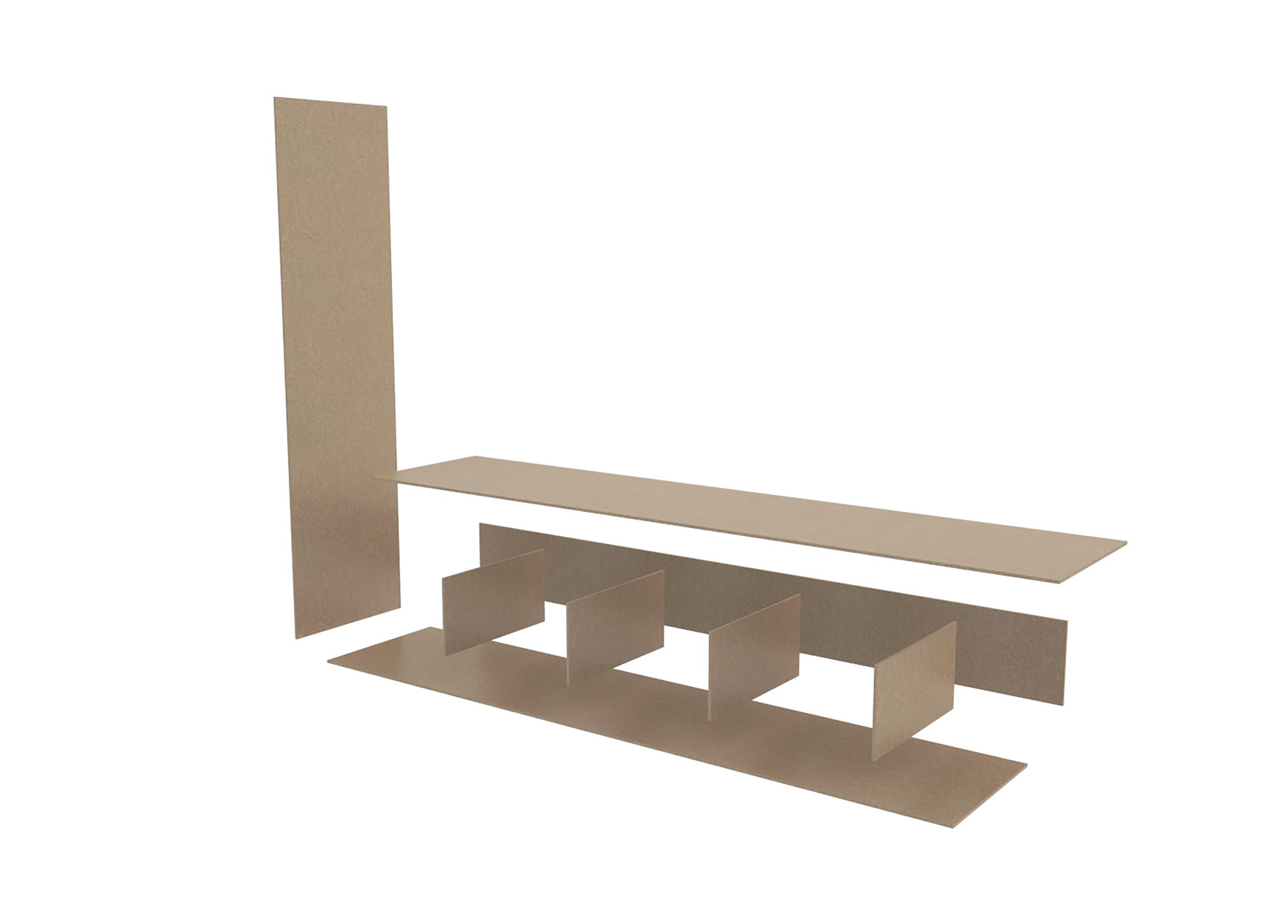 Illustrations 3D schéma de montage du meuble