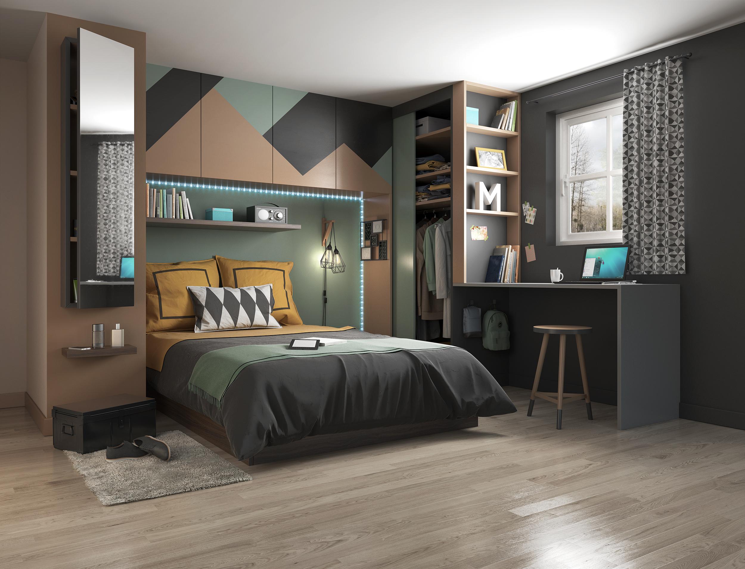 Illustration 3D pour la décoration d'une chambre - Dripmoon studio graphique à Tours