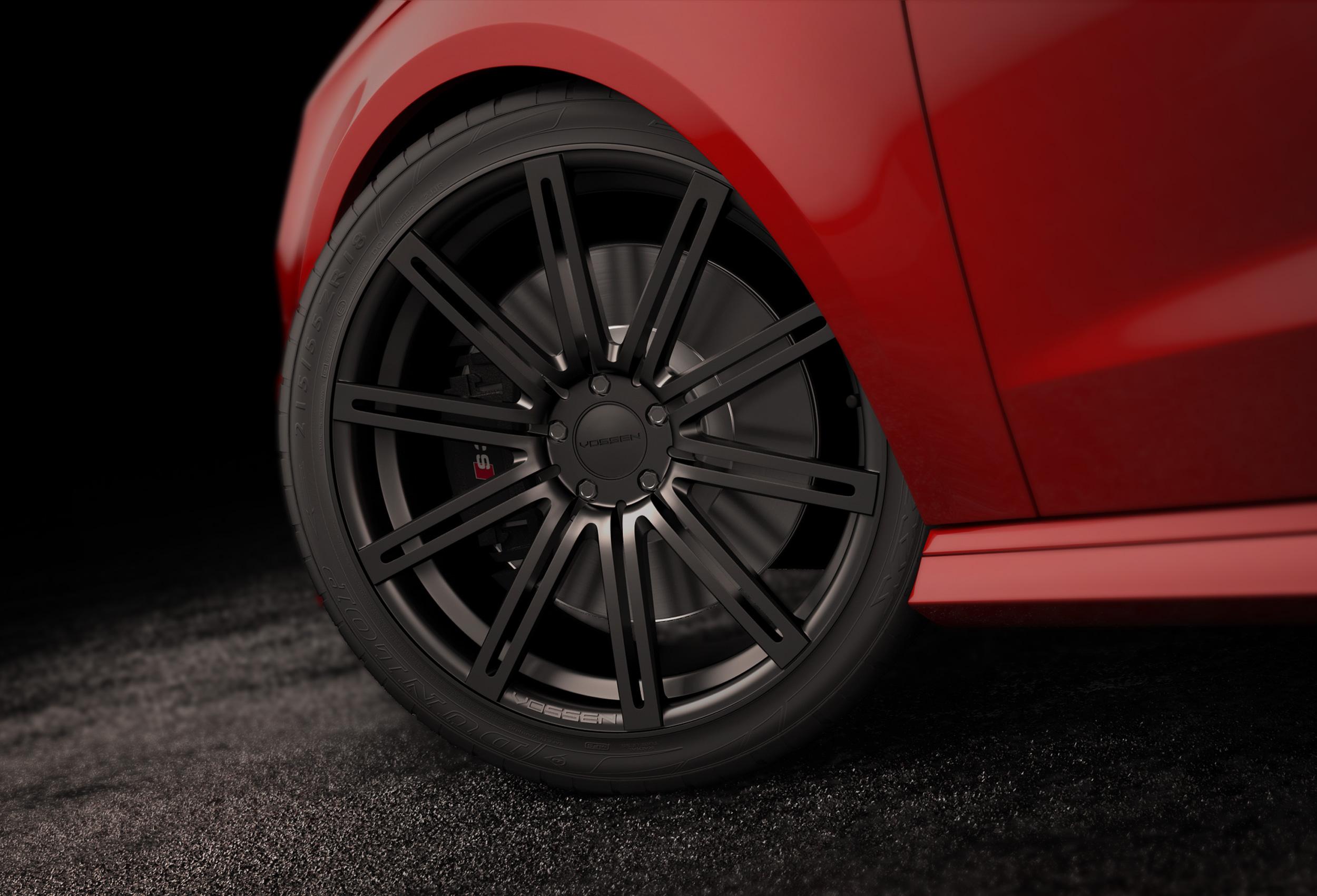 Modélisation de la roue - Illustration 3D Audi S3 par Dripmoon